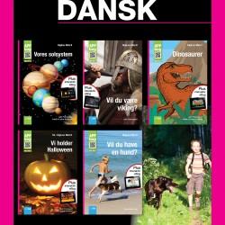 Dansk bogpakke med fem APP-bøger