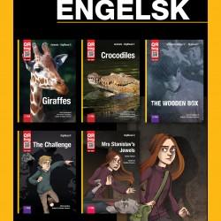 Engelsk bogpakke med 5 titler